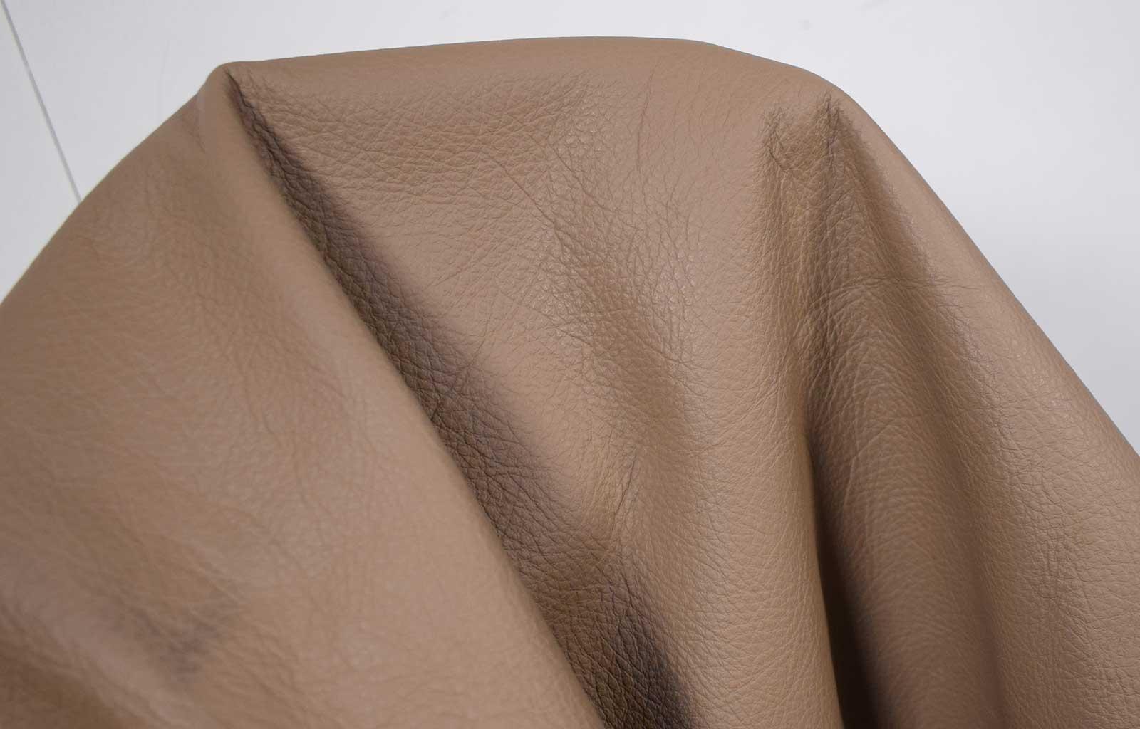 Rindsleder Nappa Autoleder espresso-braun 1,0-1,2 mm Lederstücke Leder #A35