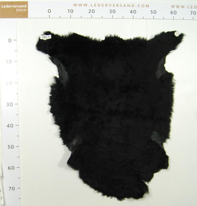 Exklusive lammfelle doubleface schwarz glatte lederseite for Fenster 70x60
