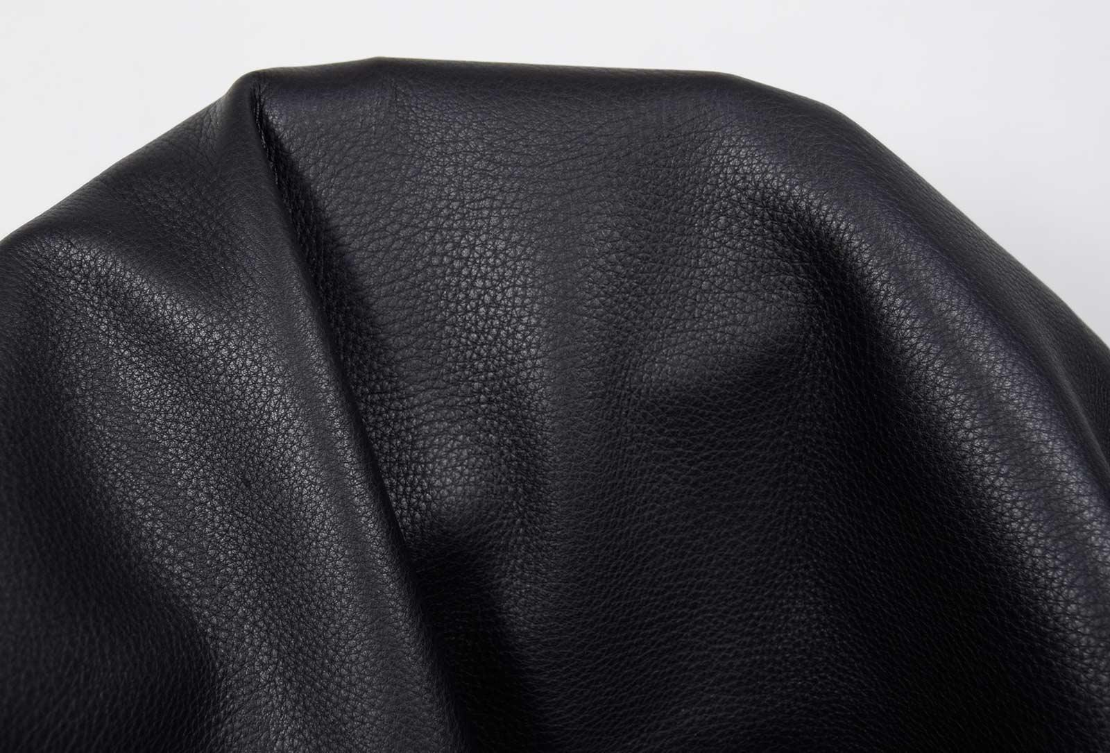 Hirschleder schwarz Nappa Sonderposten 1,0-1,2 mm #hsx